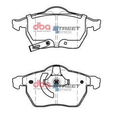 DBA SS STREET SERIES BRAKE PADS [ Holden Astra & Zafira 1998-2006 F ], , scaau_hi-res