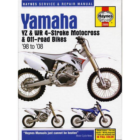 YAMAHA YZ & WR 4-STROKE MOTOCROSS BIKES 1998 - 2008, , scaau_hi-res