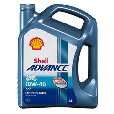 4 X SHELL ADVANCE 4T AX7 10W40 4L, , scaau_hi-res