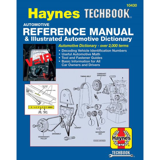 AUTOMOTIVE REFERENCE MANUAL & ILLUSTRATED AUTOMOTIVE DICTIONARY HAYNES TECHBOOK, , scaau_hi-res