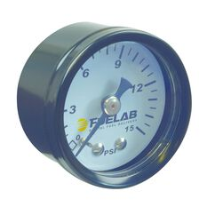 CARB FUEL PRESSURE GAUGE. 0-15 PSI AND BAR