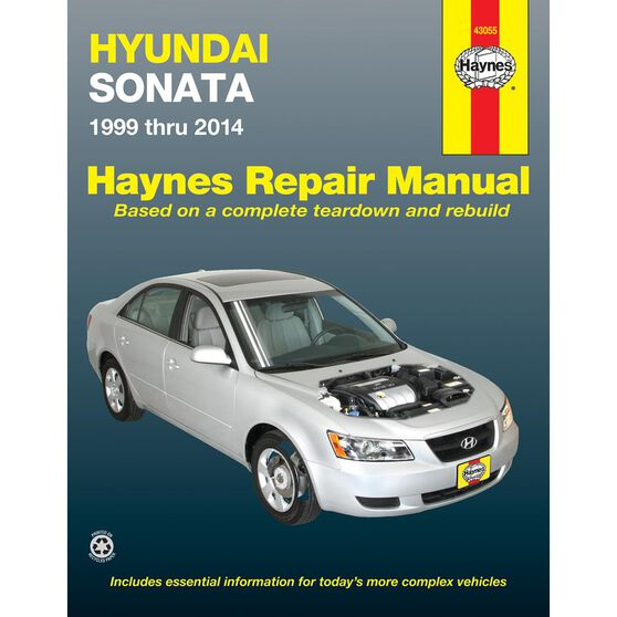 HYUNDAI SONATA HAYNES REPAIR MANUAL FOR 1999 THRU 2014 (DOES NOT INCLUDE INFORMATION SPECIFIC TO HYBRID MODELS), , scaau_hi-res