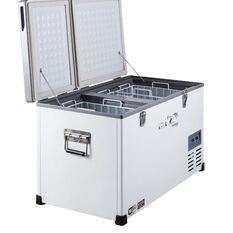 75 LITRE DUAL LID DUAL COMPARTMENT GLACIER FRIDGE FREEZER