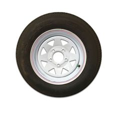 WHEEL & TYRE 155X13 PAINTED, , scaau_hi-res