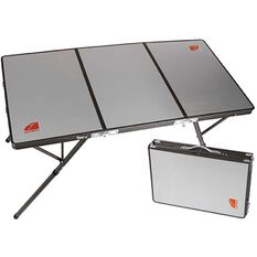 Oztent Bi Fold Table - Aluminium Surface, , scaau_hi-res