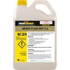 Brake Fluid: DOT 5.1 - 5L Bottle (Fluid Colour: Amber), , scaau_hi-res