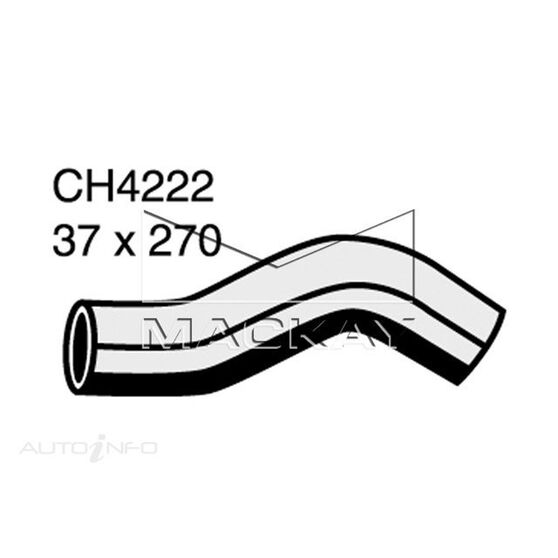 Radiator Upper Hose  - TOYOTA LANDCRUISER KZJ95R - 3.0L I4 Turbo DIESEL - Manual & Auto, , scaau_hi-res
