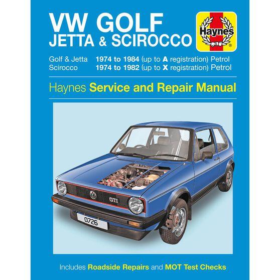 VW GOLF, JETTA & SCIROCCO MK 1 PETROL 1.5, 1.6 & 1.8 (1974 - 1984), , scaau_hi-res