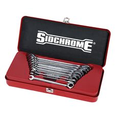SIDCHROME 10 PIECE REVERSIBLE GEARED WRENCH METRIC 10 - 19MM