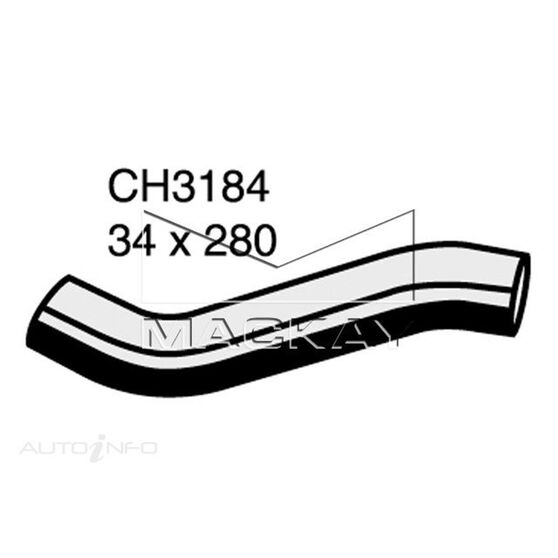 Radiator Upper Hose  - NISSAN VANETTE C22 - 2.0L I4  PETROL - Manual & Auto, , scaau_hi-res