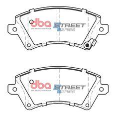DBA SS STREET SERIES BRAKE PADS [ Toyota Corolla ZZE122R 1.8L [ Sth African ] 2001-2014 F ], , scaau_hi-res
