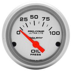 "ULTRA-LITE 2-1/16""  OIL PRESS 0-100PSI, SHORT SWEEP ELECTRIC"