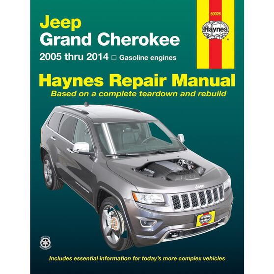 JEEP GRAND CHEROKEE HAYNES REPAIR MANUAL FOR 2005 THRU 2014 (DOES NOT INCLUDE INFORMATION SPECIFIC TO DIESEL ENGINE MODELS), , scaau_hi-res