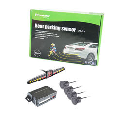 REAR PARKING SENSOR WITH LED DISPLAY AND WITH AUTOMATIC TOW-BAR/SPARE TYRE RECOGNITION-PROMATA, , scaau_hi-res