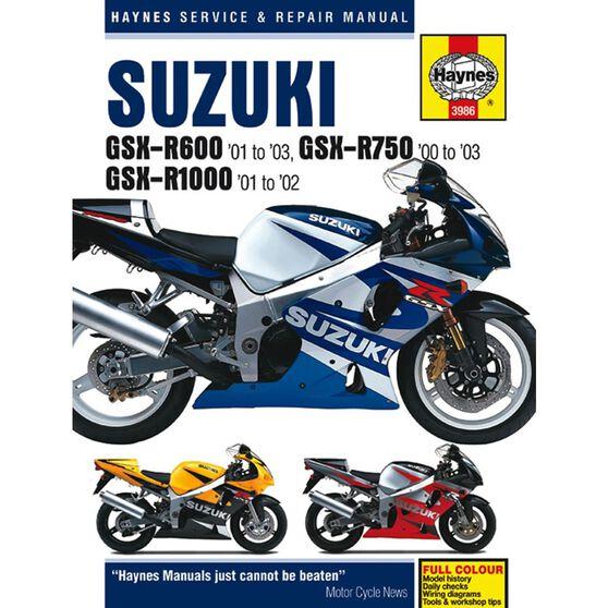 SUZUKI GSX-R600 2001 - 2003 GSX-R750 2000 -2003 & GSX-R1000 2001 - 2002, , scaau_hi-res