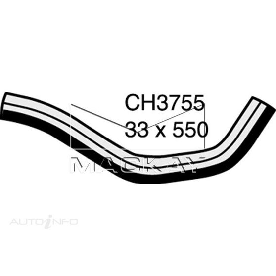 Radiator Lower Hose  - TOYOTA LANDCRUISER GRJ120R - 4.0L V6  PETROL - Manual & Auto, , scaau_hi-res