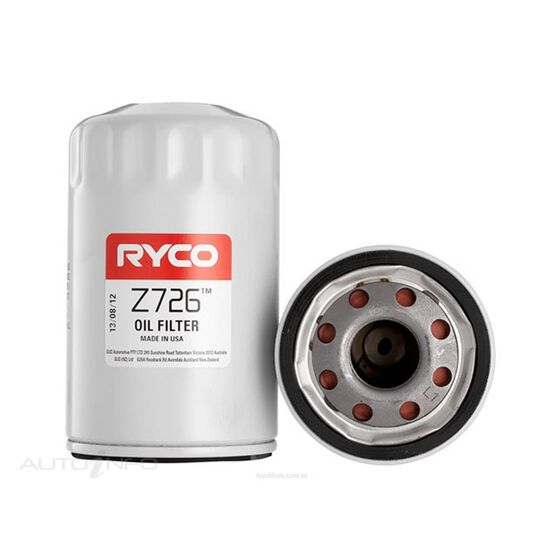 RYCO OIL FILTER - Z726, , scaau_hi-res