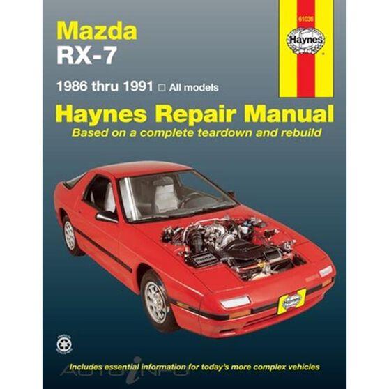 MAZDA RX-7 HAYNES REPAIR MANUAL COVERING ALL MAZDA RX-7 MODELS INCLUDING TURBO (1986 THRU 1991), , scaau_hi-res