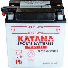 KATANA MOTORCYCLE BATTERY - YB10L-A2, , scaau_hi-res