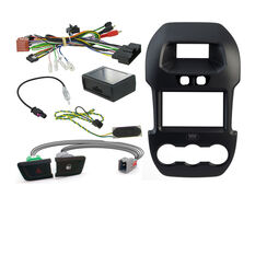 INSTALL KIT TO SUIT FORD RANGER PX (BLACK), , scaau_hi-res