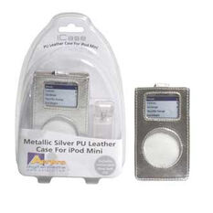 PU LEATHER CASE WITH CLEAR CLIP SILVER -  SUIT IPOD MINI, , scaau_hi-res