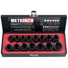 METRINCH 1/2IN DRIVE 15PC IMPACT SET