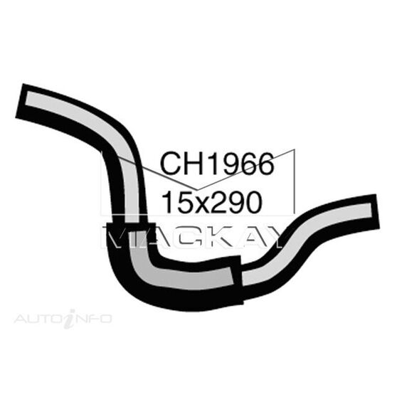 Heater Hose  - FORD LASER KH - 1.8L I4  PETROL - Manual & Auto, , scaau_hi-res