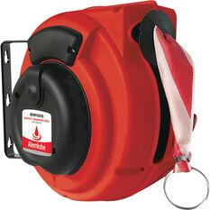 ALEMLUBE SAFETY BARRIER REEL 16M RED/WHITE W/HOOK & EYE, , scaau_hi-res