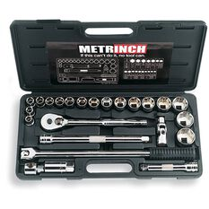 METRINCH 1/2IN DRIVE 24PC SOCKET SET