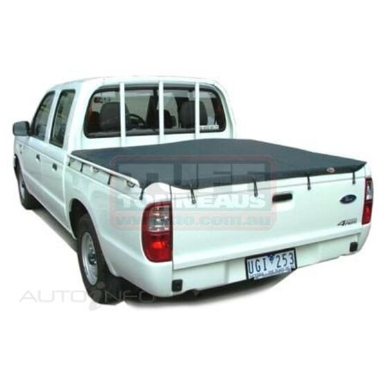 COURIER DUAL CAB WITHOUT SPORTS BAR, HEADBOARD BUNJI UTE TONNEAU COVER