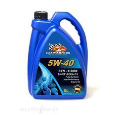 CARTON QTY 4 SYN-X 6000 FULL SYN 5W-40 SN/CF DEX 2 5L, , scaau_hi-res