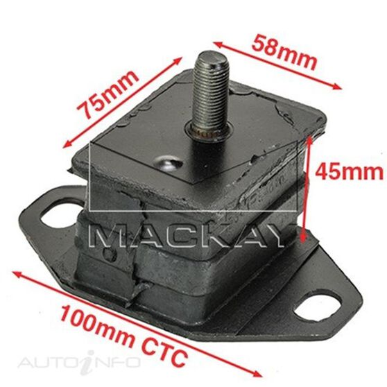 Engine Mount Front - TOYOTA 4 RUNNER LN130R - 2.8L I4  DIESEL - Manual & Auto, , scaau_hi-res