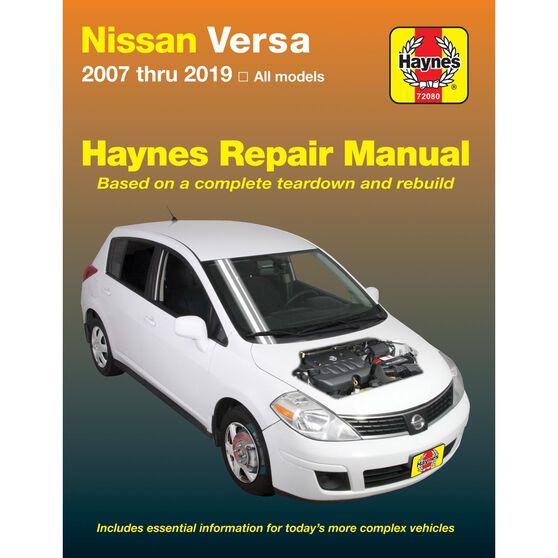 NISSAN VERSA HAYNES REPAIR MANUAL COVERING ALL MODELS OF VERSA FOR 2007-2014, , scaau_hi-res