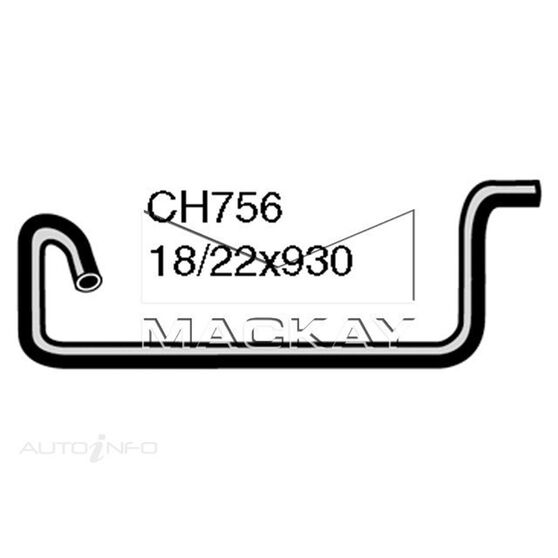 Heater Hose HILLMAN / SINGER / SUNBEAM / TALBOT Hunter and Arrow  HB -HC and HE Series  Heater to Thermostat*, , scaau_hi-res