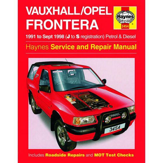 VAUXHALL/OPEL FRONTERA PETROL & DIESEL (1991 - 1998), , scaau_hi-res