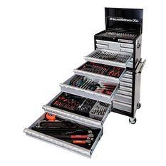 Tool Set 314Pc - 7 Drawer Roller Cabinet + 7 Drawer Deep Chest, , scaau_hi-res