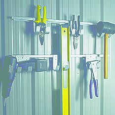 YARDSAVER SHED ACCESSORY TOOL HANGING RACK