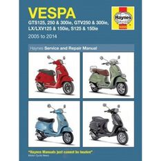 VESPA GTS, GTV, LX & S 125 TO 300 2005 - 2014, , scaau_hi-res