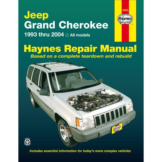 JEEP GRAND CHEROKEE HAYNES REPAIR MANUAL COVERING ALL MODELS (1993 THRU 2004), , scaau_hi-res