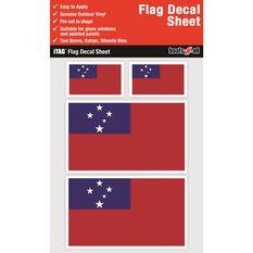 SAMOA FLAG DECALS SHEET