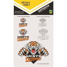 WESTS TIGERS ITAG DECALS SHEET (CLEAR VINYL)