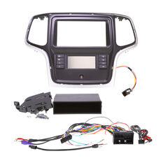 INSTALL KIT TO SUIT JEEP GRAND CHEROKEE WK (SILVER/BLACK), , scaau_hi-res