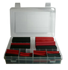 HEAT SHRINK DUAL WALL ADHESIVE 3MM TO 25MM ASSORTED KIT 105PCS