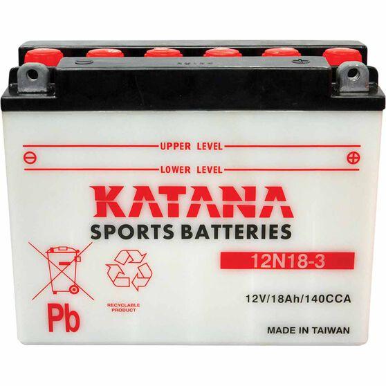 KATANA MOTORCYCLE BATTERY - 12N18-3, , scaau_hi-res
