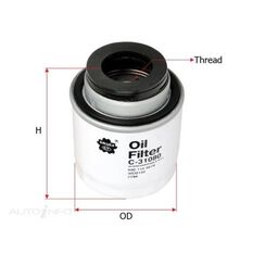 OIL FILTER FITS Z794 - WCO132 H312W, , scaau_hi-res