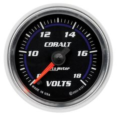 """COBALT 2-1/16"""" VOLT METER 8-18V, FULL SWEEP ELECTRIC"""