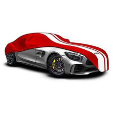 Car Cover Indoor Classic Medium 4.5m Red With White Stripes, , scaau_hi-res