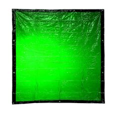 BOSSSAFE 1.8MT X 2.0MT GREEN WELDING CURTAIN, , scaau_hi-res
