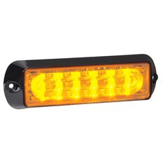 12/24V 6 LED W/LIGHT AMBER, , scaau_hi-res