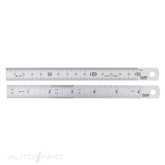 TOLEDO S/STEEL RULE 150MM/6IN